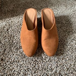 Urban Outfitters Shoes - Faux Suede Brown Mules